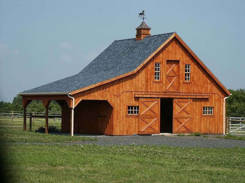 Free barn plans professional blueprints for horse barns Barn styles plans