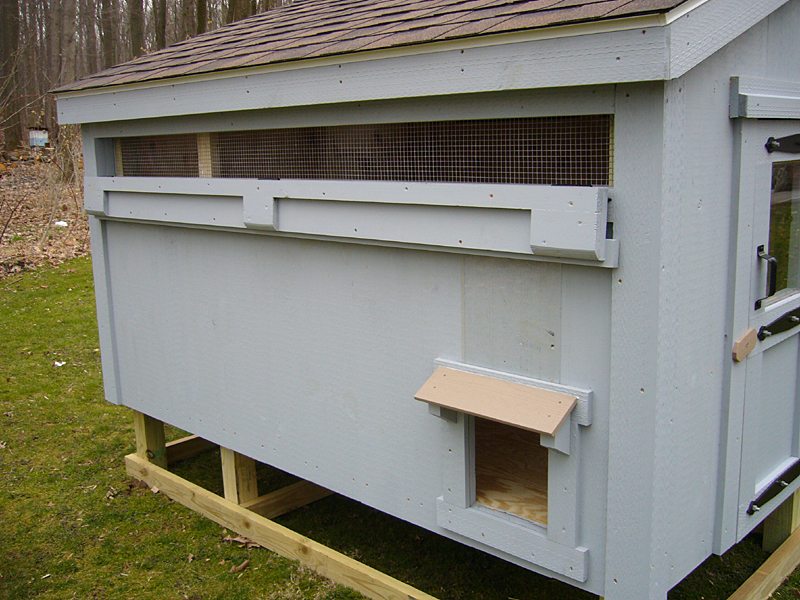 Ventilation For Chicken Houses : Free chicken coop plans construction details