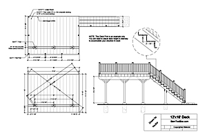 Building deck free deck design plans for Ground level deck plans pdf