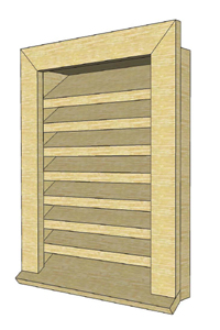 Wooden Gable Vent