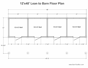 Leanto Barn Floor Plan