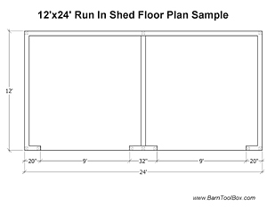 Run In Shed Floor Plan