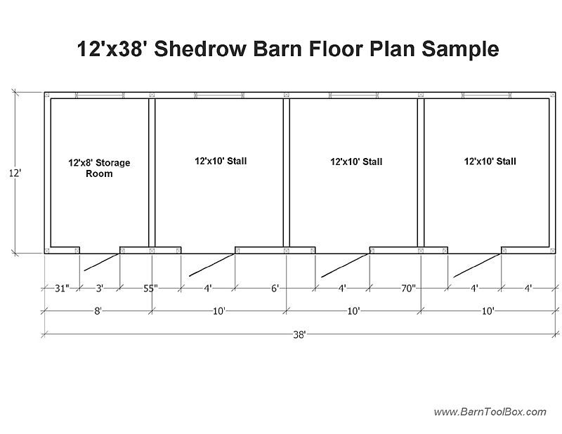 Gable information barn plans diy for Barn floor plan