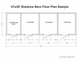 Prefab Barn Floor Plan