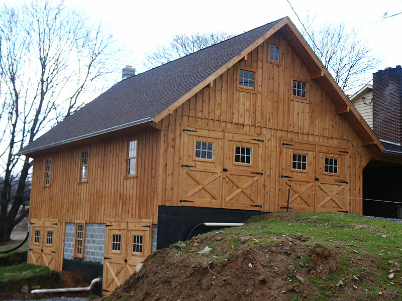 bank barn construction
