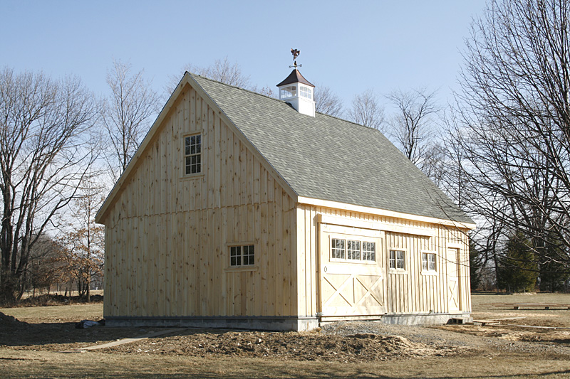 Gable barn with high roof pitch for High pitched roof house plans