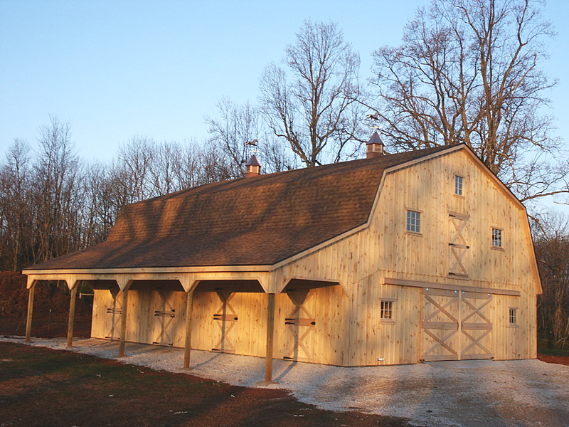 ordinary gambrel style barns #1: Information on Gambrel Barns, Dutch Style Barns and Gambrel roof  construction.
