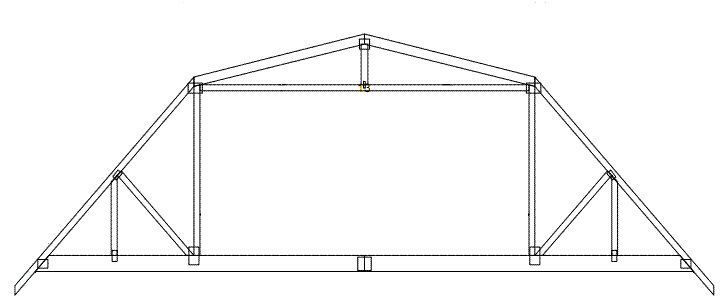 Barn glossary barn construction terms for Prefab gambrel roof trusses