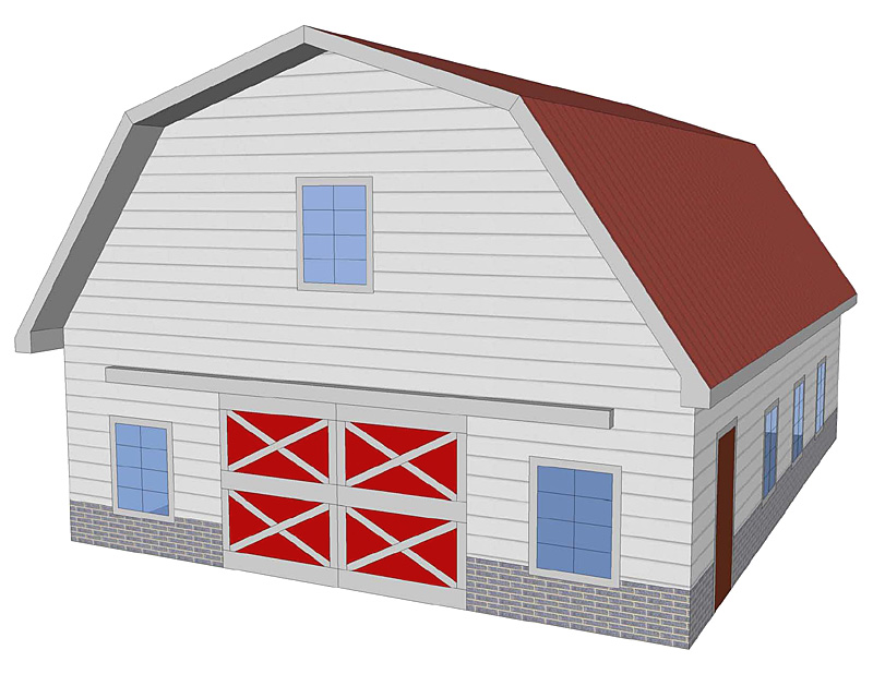 Shedaria Get Pole Barn Plans Gambrel Roof