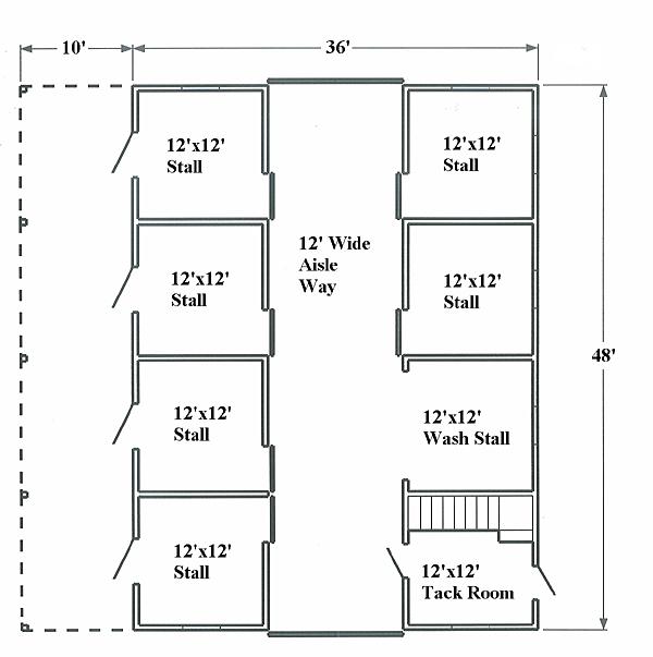 horse barn floor plan layout tipsfloor plan
