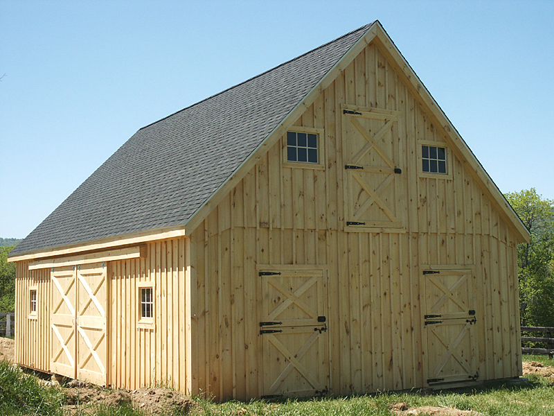 24x36 horse barn with 1212 roof pitch - Pole Barn Design Ideas