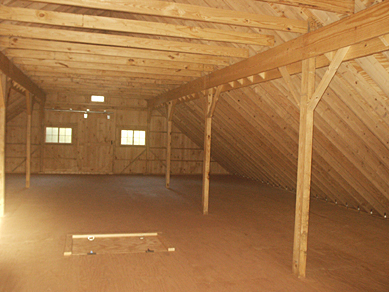 Barn loft construction building garage loft for How to build a garage loft