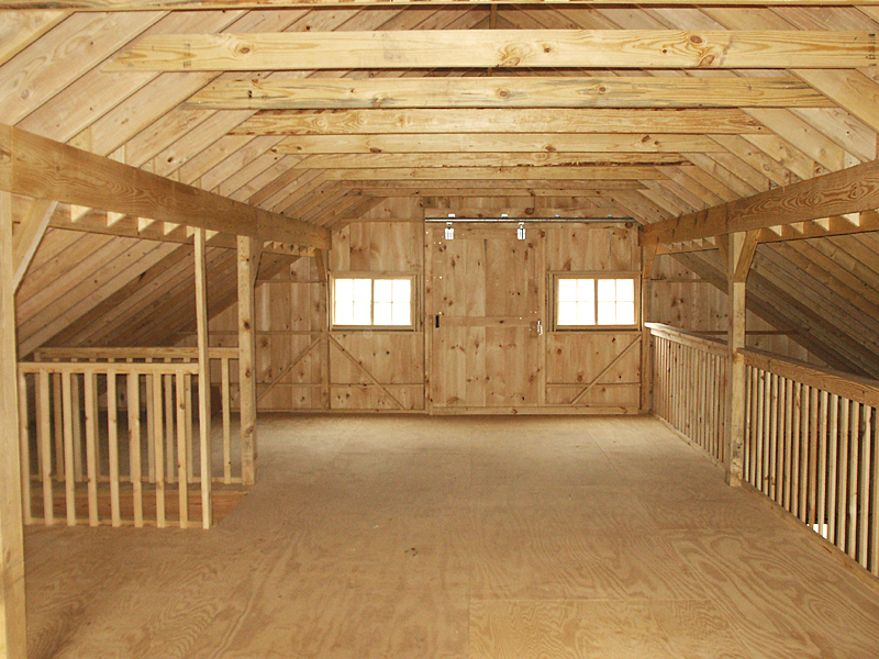 Barn Loft Construction Building Garage Loft