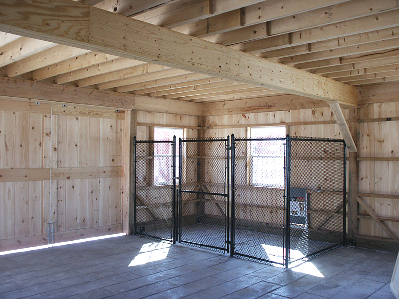 Amish Built Attic Car Garage With Loft Space: Barn Loft Construction