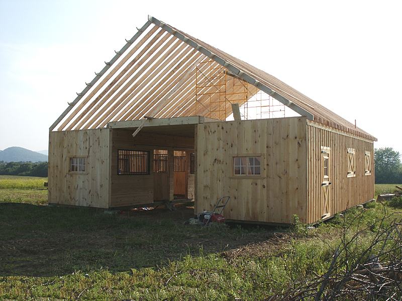 Modular horse barn center aisle barn for Barn plans for sale