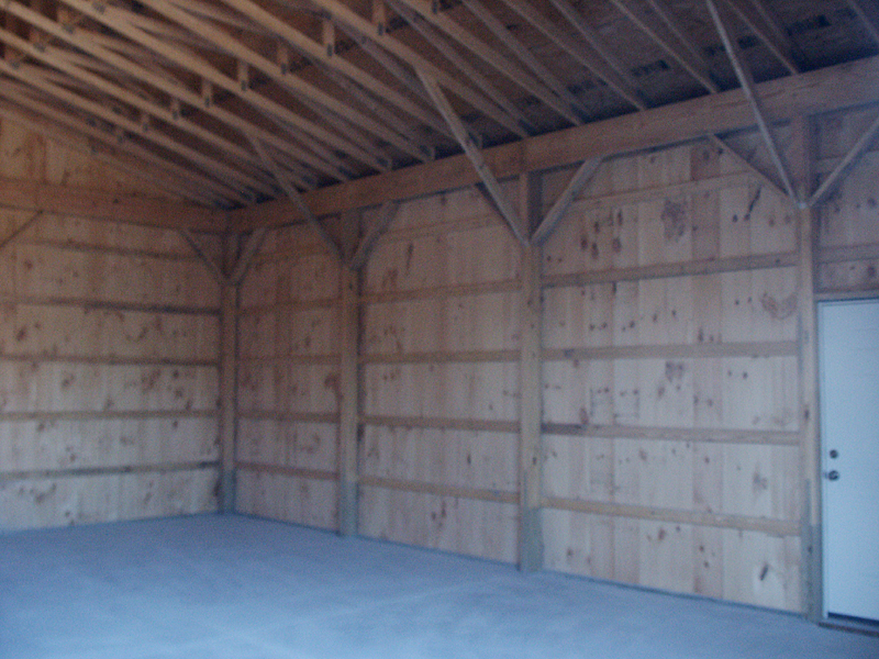 pole barn interior