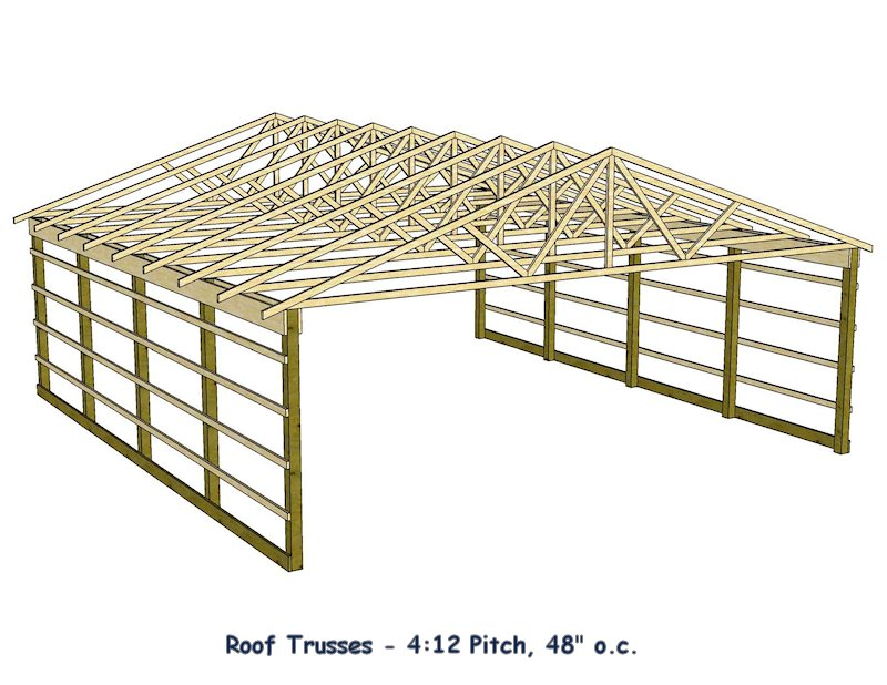 Barn roof construction how to build roof for Roof trusses installation