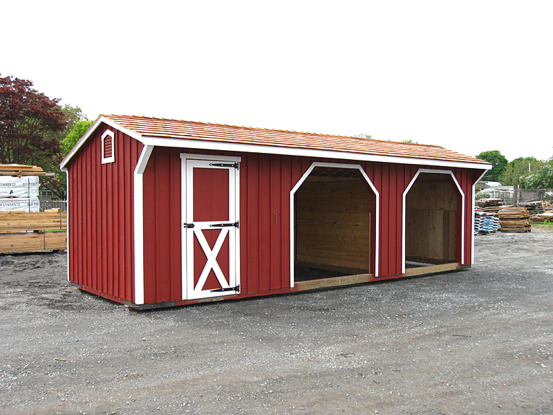 Plans for storage building 12x16 horse run in shed designs for Small horse barn plans