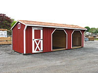 10'x28' Run In Shed - Painted Red