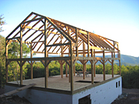 Timber Frame Barn Construction
