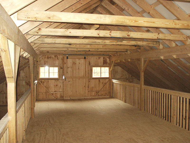 Barn loft construction building garage loft for Barn style interior design